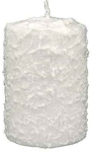 Świeca dekoracyjna, biała, 7,5 x 14 cm - Artman Christmas Candle White — фото N1