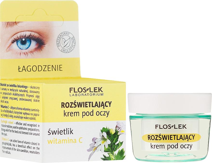 Rozjaśniający krem pod oczy Świetlik i witamina C - Floslek