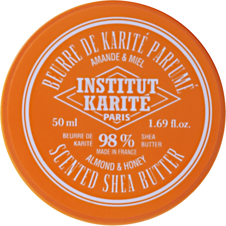Perfumowane masło shea 98% Migdał i miód - Institut Karité Almond And Honey Scented Shea Butter — фото N4