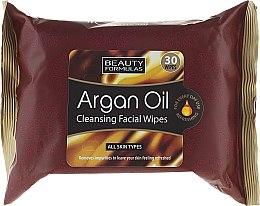 Kup Oczyszczające chusteczki do twarzy - Beauty Formulas Argan Oil Cleansing Facial Wipes