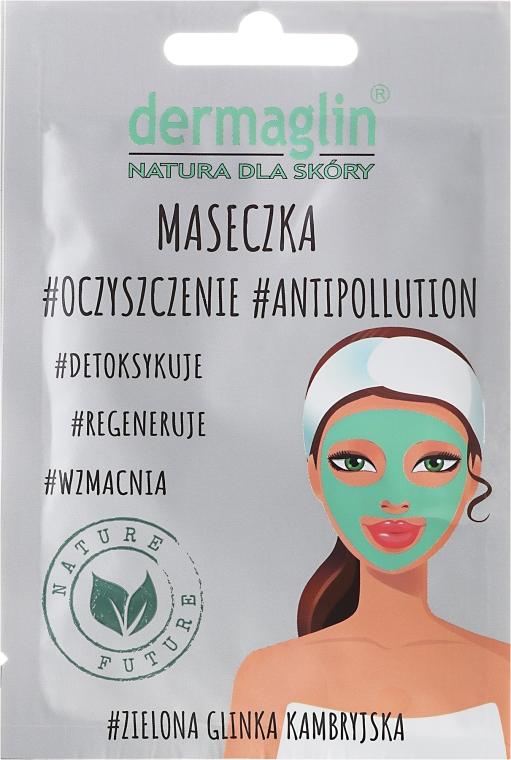 Detoksykująca maseczka do twarzy z zieloną glinką kambryjską - Dermaglin #Oczyszczenie #Antipollution