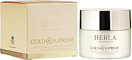 Kup Odżywcza maska do twarzy z płatkami złota - Herla Gold Supreme 24K Gold Rejuvenating Face Mask With Pure Gold Flakes