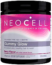 Kup Jagodowe żelki biotynowe na zdrowe włosy, skórę i paznokcie - Neocell Gummy Glow with Collagen and Biotin, Berry