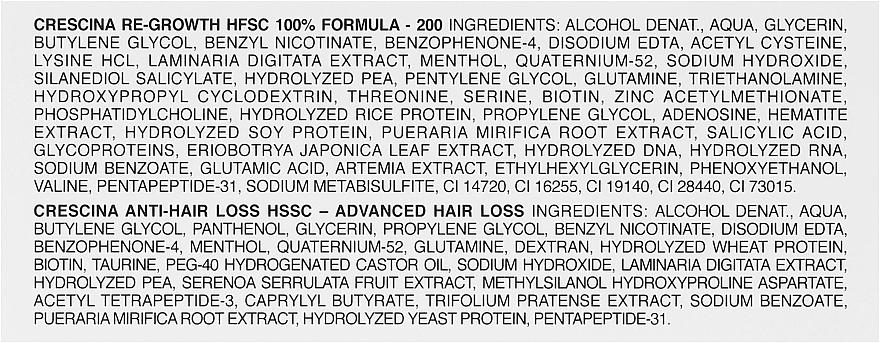 Preparat przeciw wypadaniu włosów dla kobiet 200 - Crescina Re-Growth HFSC Formula 100% — фото N2