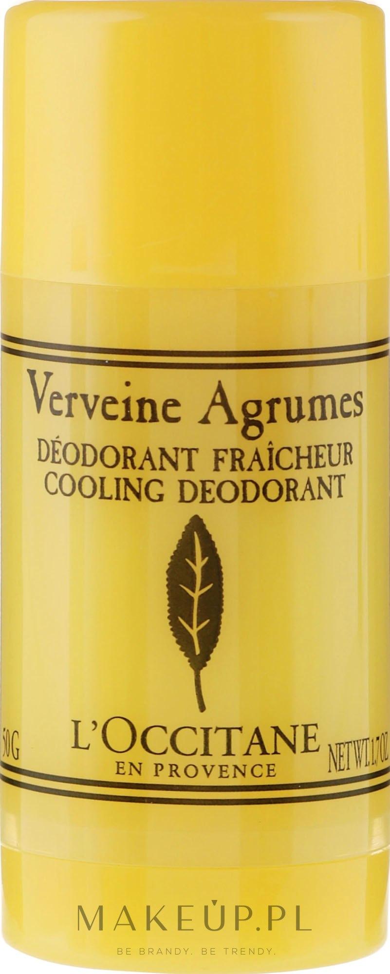 Dezodorant w sztyfcie Cytrusowa werbena - L'Occitane Verbena Cooling Deodorant Stick — фото 50 g