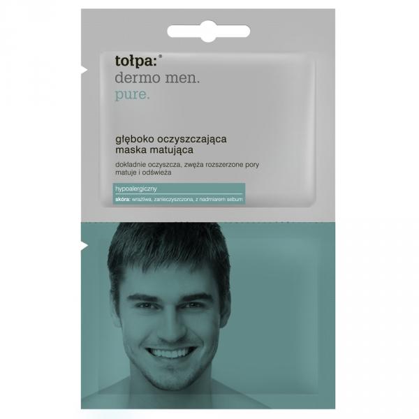 Głęboko oczyszczająca maska matująca dla mężczyzn - Tołpa Dermo Men Pure — фото N1