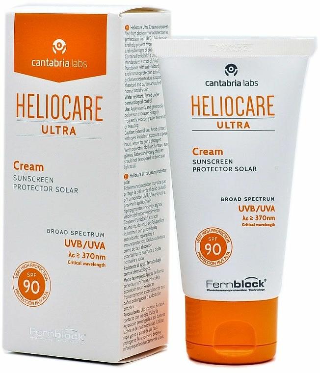 Krem ochronny przeciwsłoneczny, SPF90 - Cantabria Labs Heliocare Ultra Cream SPF 90 — фото N3