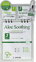 Kup PRZECENA! 3-stopniowy zabieg kojąco-wygładzający do twarzy Aloes - Rainbow L'Affair 3-Step Skin Renewal Mask Aloe *