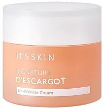 Kup PRZECENA! Przeciwzmarszczkowy krem do twarzy z ekstraktem ze śluzu ślimaka - It's Skin Signature D'escargot Un-Wrinkle Cream *