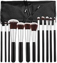 Kup Zestaw profesjonalnych pędzli do makijażu, czarny, 12 szt. - Tools For Beauty