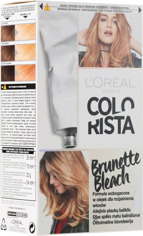 Rozjaśniająca farba do włosów - L'Oreal Paris Colorista Brunette Bleach — фото N1