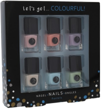 Kup Zestaw - Cosmetic 2K Let's Get Colourful Pastels Nail Polish (nail/laquer/6 x 5 ml)