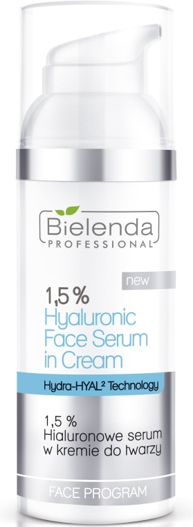Hialuronowe serum w kremie do twarzy - Bielenda Professional Face Program 1,5% Hyaluronic Face Serum In Cream — фото N1