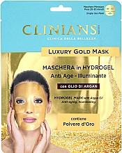 Kup Hydrożelowa maska przeciwstarzeniowa do twarzy z olejem arganowym - Clinians Hydrogel Mask With Argan Oil And Golden Powder