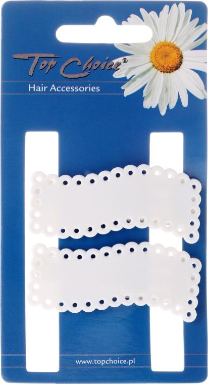 Spinka do włosów White Collection, białe, 2 szt. - Top Choice — фото N1