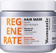 Kup Regenerująca maska do włosów zniszczonych z olejem arganowym i keratyną - Romantic Professional Helps to Regenerate