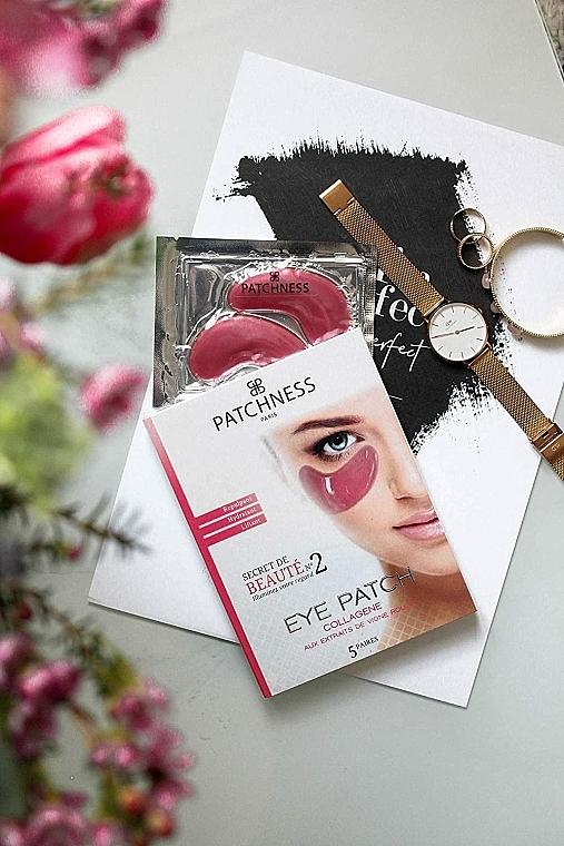 Płatki pod oczy z kolagenem i ekstraktem z czerwonych winogron - Patchness Eye Patch Pink — фото N3