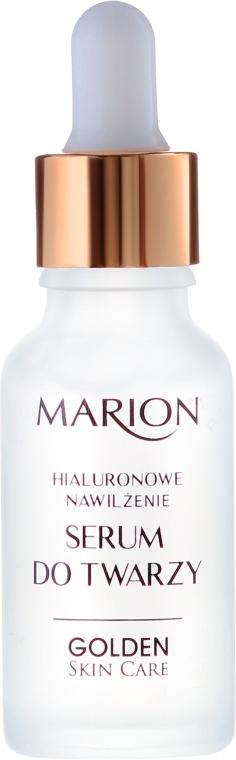 Serum do twarzy, szyi i dekoltu Hialuronowe nawilżenie - Marion Golden Skin Care — фото N2