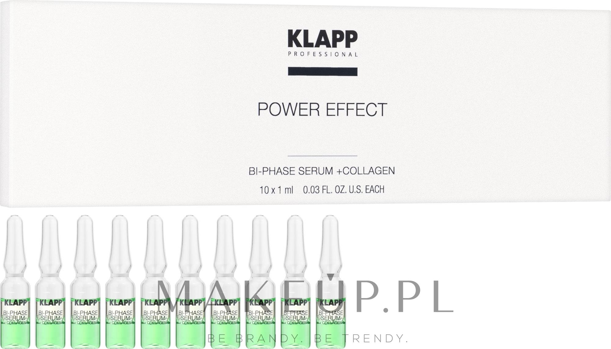 Dwufazowe serum do twarzy z kolagenem - Klapp Bi-Phase Serum + Collagen — фото 10 x 1 ml