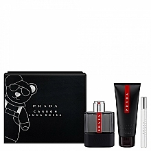 Prada Luna Rossa Carbon - Zestaw (edt/100ml + sh/gel/100ml + edt/10ml) — фото N2