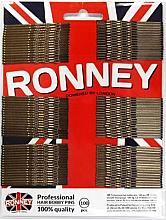 Kup Faliste wsuwki, brązowe 60 mm, 100 szt. - Ronney Professional Bronze Hair Bobby Pins