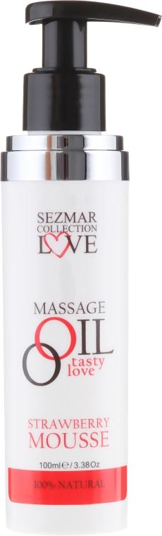 Olejek do masażu Mus truskawkowy - Sezmar Collection Love Massage Oil Strawberry Mousse — фото N4