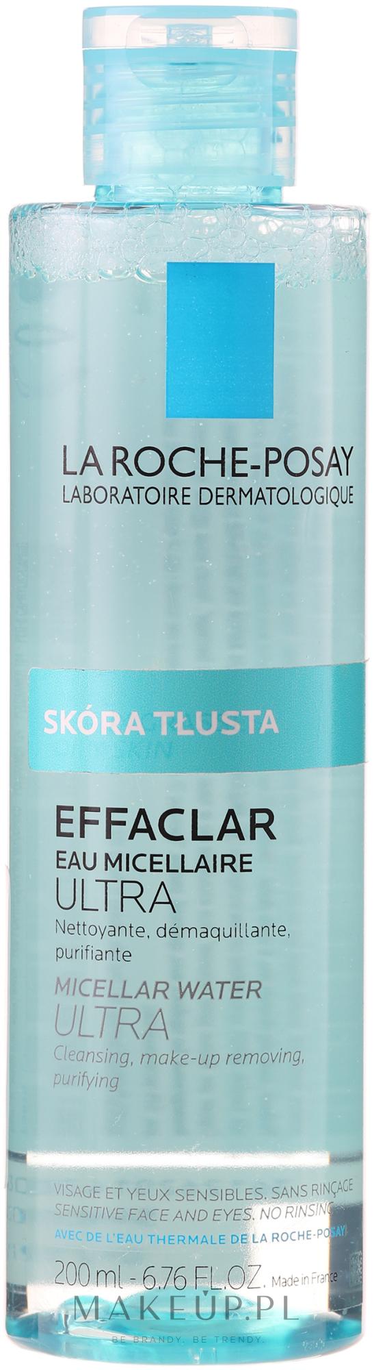 Woda micelarna z wodą termalną do skóry tłustej i wrażliwej do demakijażu twarzy i oczu - La Roche-Posay Effaclar Ultra Micellar Water — фото 400 ml