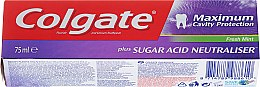 Kup Pasta do zębów z neutralizatorem kwasów cukrowych - Colgate Maximum Cavity Protection Fresh Mint