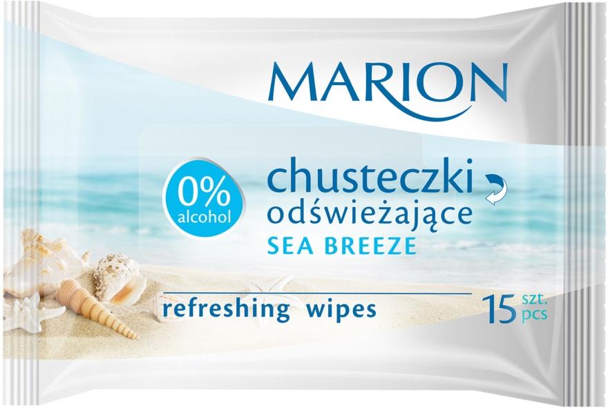 Chusteczki odświeżające Sea Breeze, 15 szt. - Marion