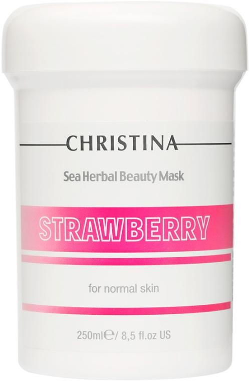Truskawkowa maska do skóry normalnej - Christina Sea Herbal Beauty Mask Strawberry — фото N3