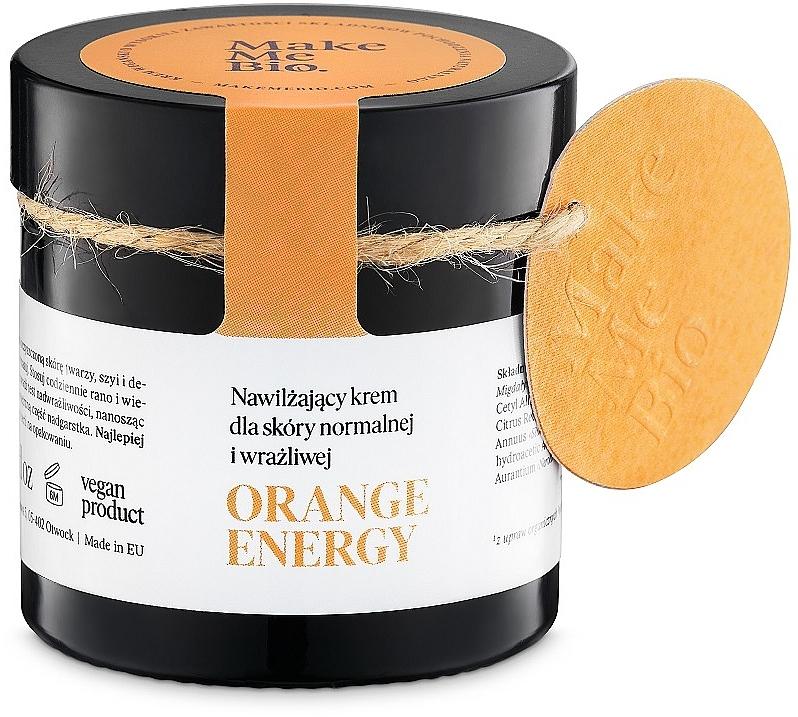 Nawilżający krem do skóry normalnej i wrażliwej - Make Me Bio Orange Energy