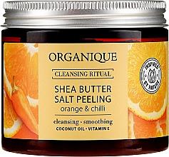 Kup Peeling solny do ciała z masłem shea Pomarańcza i chili - Organique Cleansing Ritual Shea Butter Salt Peeling Orange & Chilli