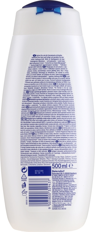 Kremowy żel pod prysznic Apricot - Nivea Bath Care Cream Shower Apricot And Milk — фото N2