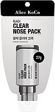 Kup Czarna maska oczyszczająca pory nosa - Alice Koco Black Clear Nose Pack