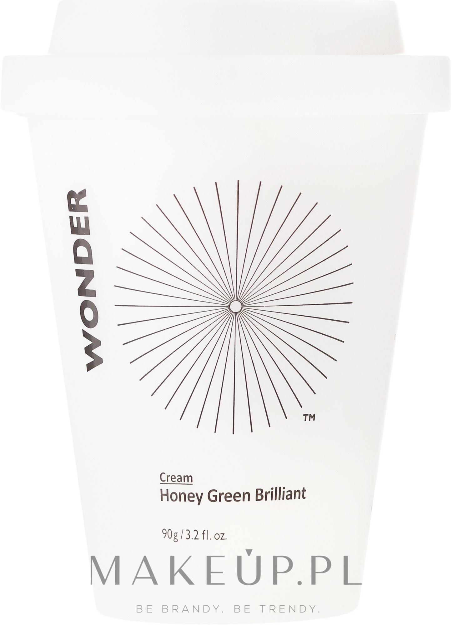 Rozjaśniający krem do twarzy - Haruharu Wonder Honey Green Brilliant Cream — фото 90 g
