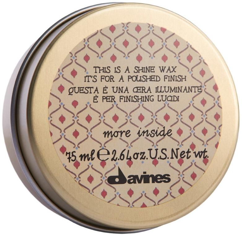Wosk nawilżająco-wygładzający do włosów - Davines More Inside This Is A Shine Wax — фото N1