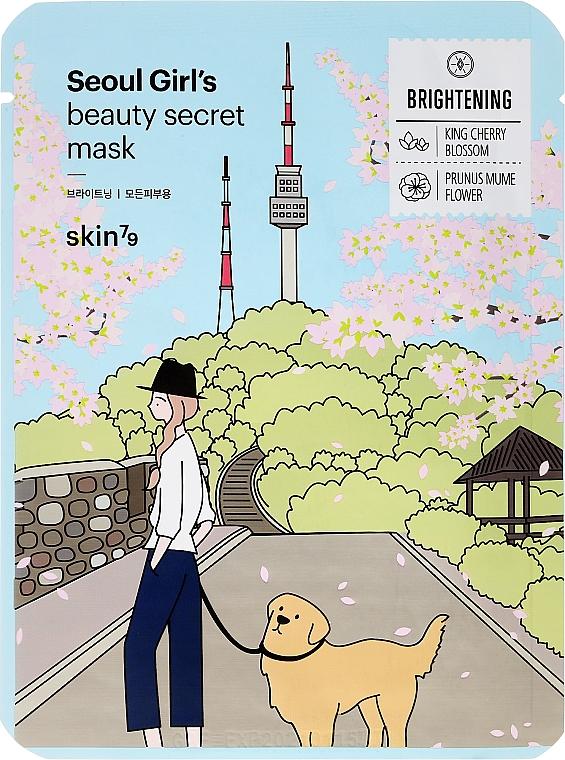 Rozjaśniająca maska na tkaninie do twarzy - Skin79 Seoul Girl's Beauty Secret Mask Brightening — фото N1