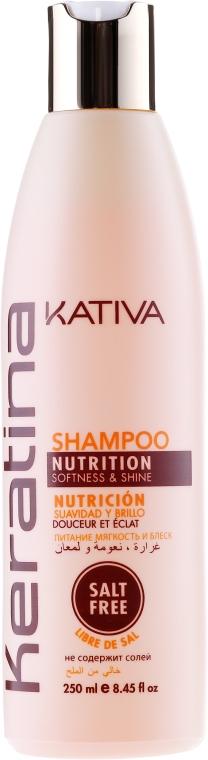 Nawilżający szampon do włosów z keratyną - Kativa Keratina Shampoo