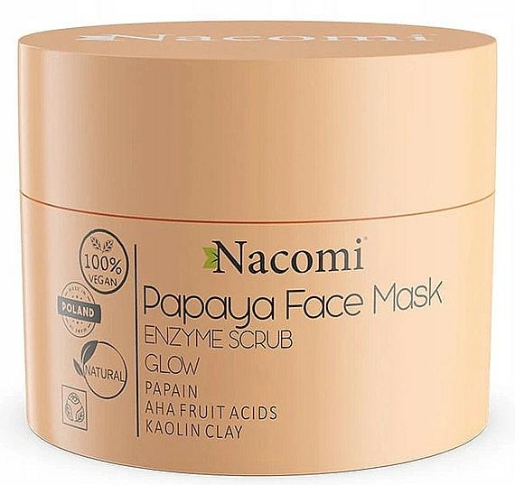 Maska enzymatyczna Papaya - Nacomi Papaya Face Mask Enzyme Scrub