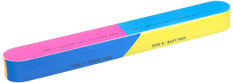 7-stopniowa polerka do paznokci 163 x 22 x 17 mm - Tools For Beauty 7-way Nail Buffer Block — фото N1
