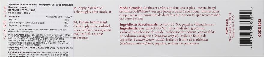 Cynamonowa pasta do zębów - Now Foods XyliWhite Cinnafresh Toothpaste Gel — фото N3