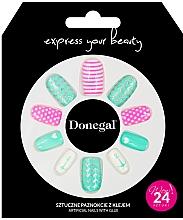 Kup Zestaw sztucznych paznokci z klejem, 3055 - Donegal Express Your Beauty
