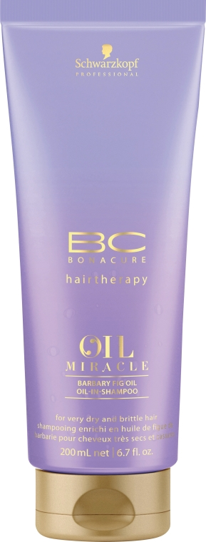 Szampon rewitalizujący Olej z opuncji figowej - Schwarzkopf Professional Bonacure Oil Miracle Barbary Fig Oil Shampoo