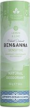 Kup Naturalny dezodorant do skóry wrażliwej Cytryna i limonka - Ben & Anna Natural Deodorant Sensitive Lemon & Lime