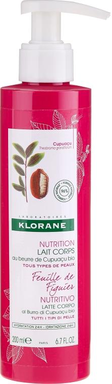 Mleczko do ciała - Klorane Cupuacu Fig Leaf Nourishing Body Lotion — фото N1