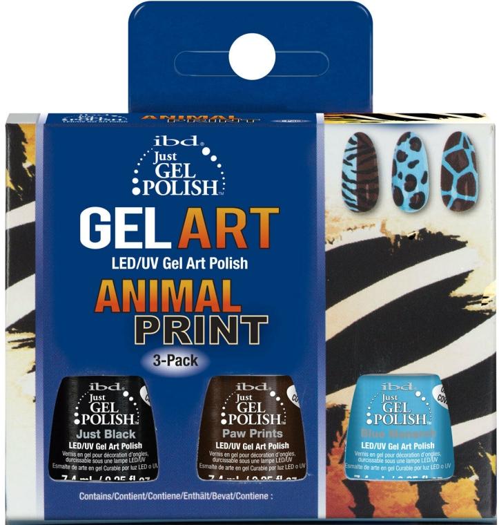 Zestaw - IBD Just Gel Polish Animal Print Gel Art(nail/lacquer/7,4mlx3) — фото N1