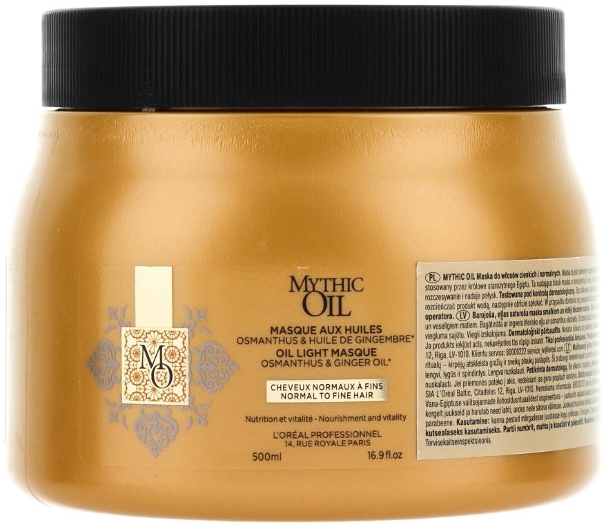 Maska do włosów normalnych i cienkich - L'Oreal Professionnel Mythic Oil Mask