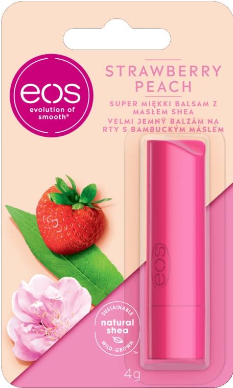 Balsam do ust z masłem shea Truskawka i brzoskwinia - EOS Strawberry Peach Lip Balm  — фото N1