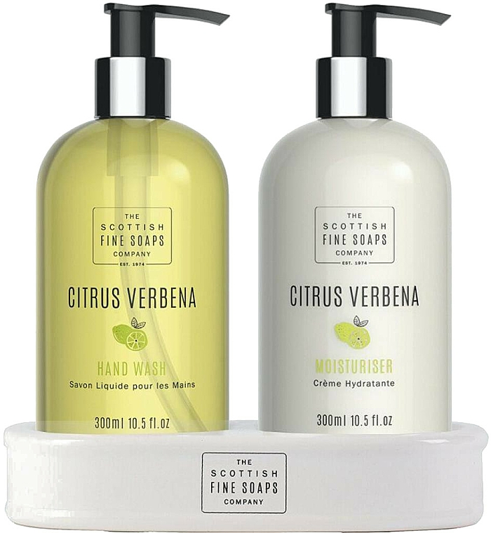 Zestaw - Scottish Fine Soaps Citrus Verbena Hand Care Set (h/soap/300ml + h/cr/300ml) — фото N1