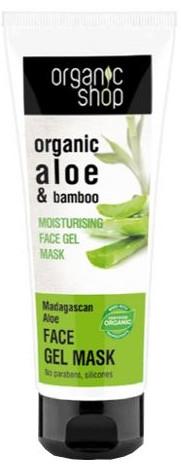 Nawilżający żel-maska do twarzy Madagaskarski aloes - Organic Shop Gel Mask Face